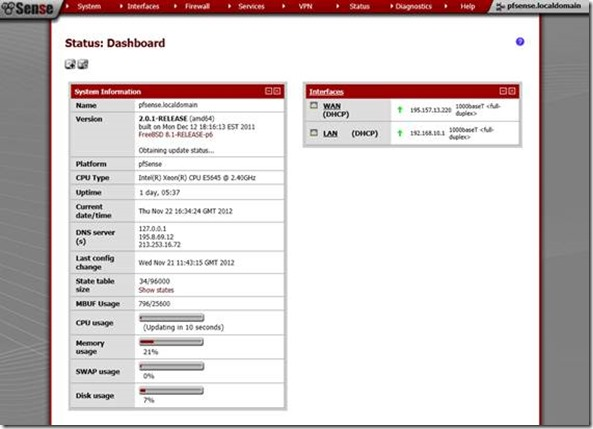 Configure Load Balancing on your Site using the the pfSense